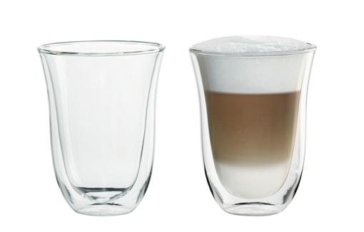 Obrázek z DeLonghi Sklenička latte macchiato 220 ml(set 2 ks)
