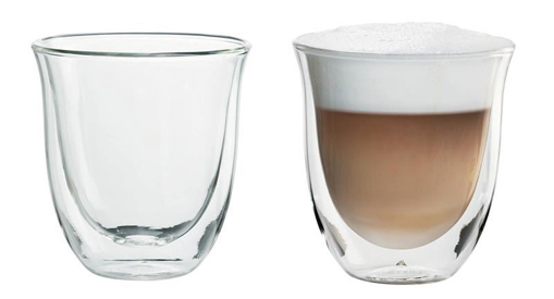 Obrázek z Delonghi skleničky na cappuccino(190 ml)- set 2 ks