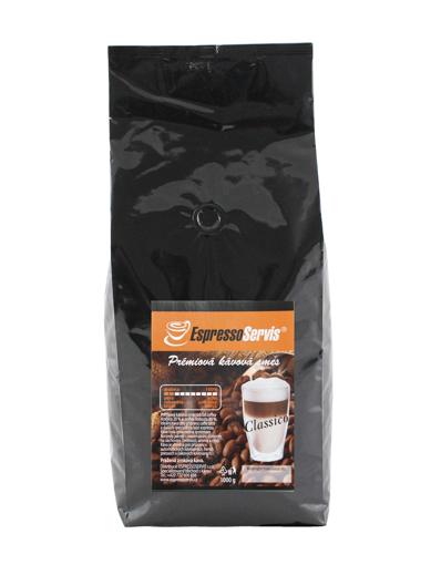 Obrázek z EspressoServis CLASSICO Zrnková čerstvě pražená káva 1000g