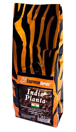Obrázek z EspressoServis Indie Planta Zrnková čerstvě pražená káva, 100 % arabica, 250 g