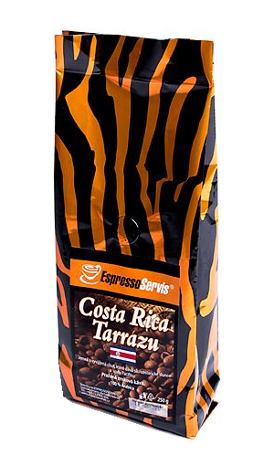 Obrázek z EspressoServis Costa Rica Tarrazu Zrnková čerstvě pražená káva, 100 % arabica, 250 g