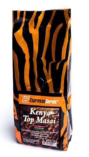 Obrázek z EspressoServis Kenya Top Masai Zrnková čerstvě pražená káva, 100 % arabica, 250 g